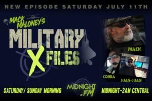 Military X-Files promo with Mack Maloney, Juan-Juan, and Cobra