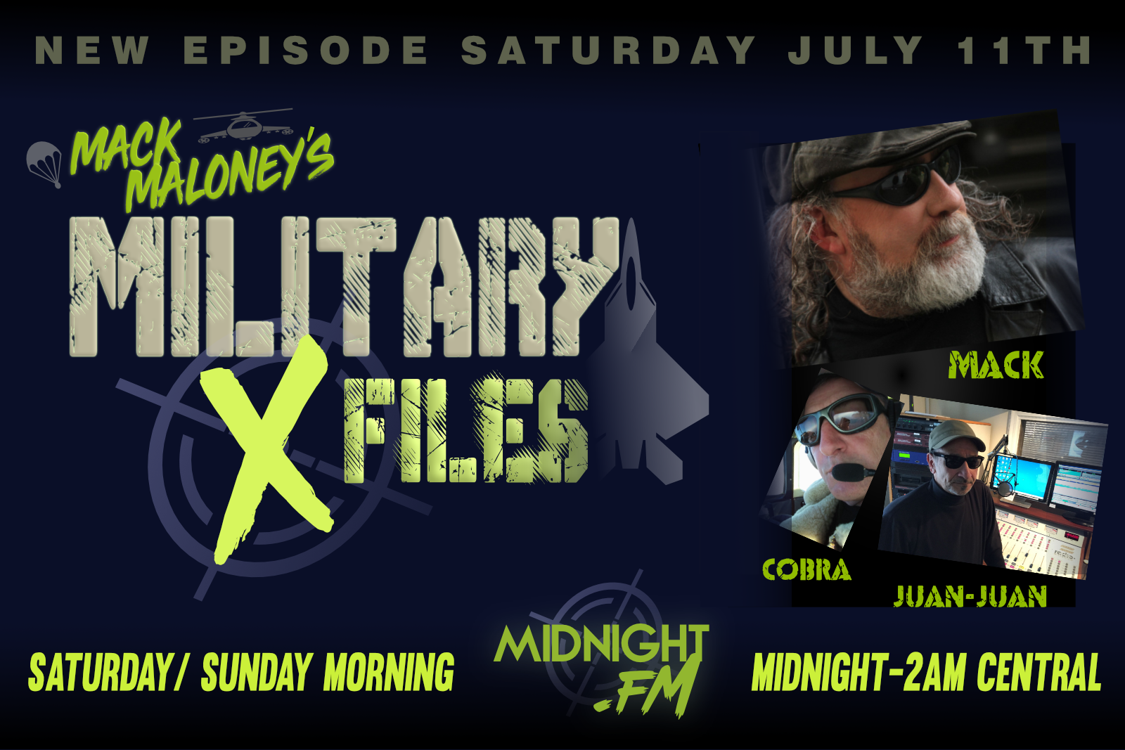 Military X-Files promo with Mack Maloney, Juan-Juan, and Cobra
